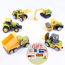 13 Styles Toy Cars Mini Diecast Metal Car 1:64 Farm Toys Car Model Alloy toy Construction Vehicle Tractor Truck Dump Collections