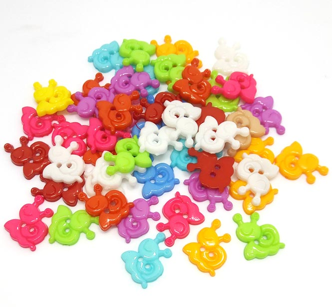 50pcs plastic buttons for craft sewing children clothing