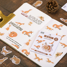 40Pcs/box Meng pet series Mini Decoration Paper Sticker DIY Scrapbook Notebook Album Sticker Stationery Kawaii Girl Stickers 50pcs box travel building decoration stickers mini paper decoration diy scrapbook notebook album sticker stationery girl sticke