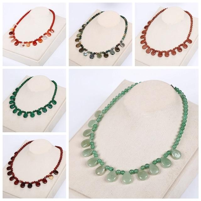 Beads Natural Stone Necklaces Tassel Women Short Necklace Chain Men Statement Je