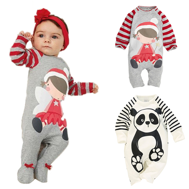 Newborn Baby Clothing Spring Long Sleeve Cotton baby Rompers Cartoon Girls Clothes roupas de bebe infantil Boys costumes baby rompers 2016 spring autumn style overalls star printing cotton newborn baby boys girls clothes long sleeve hooded outfits