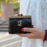 MOLAVE 2017 Wallet Animal Prints Vintage Wallets Short Solid PU Leather Hasp Clutch Purse Wallet Women