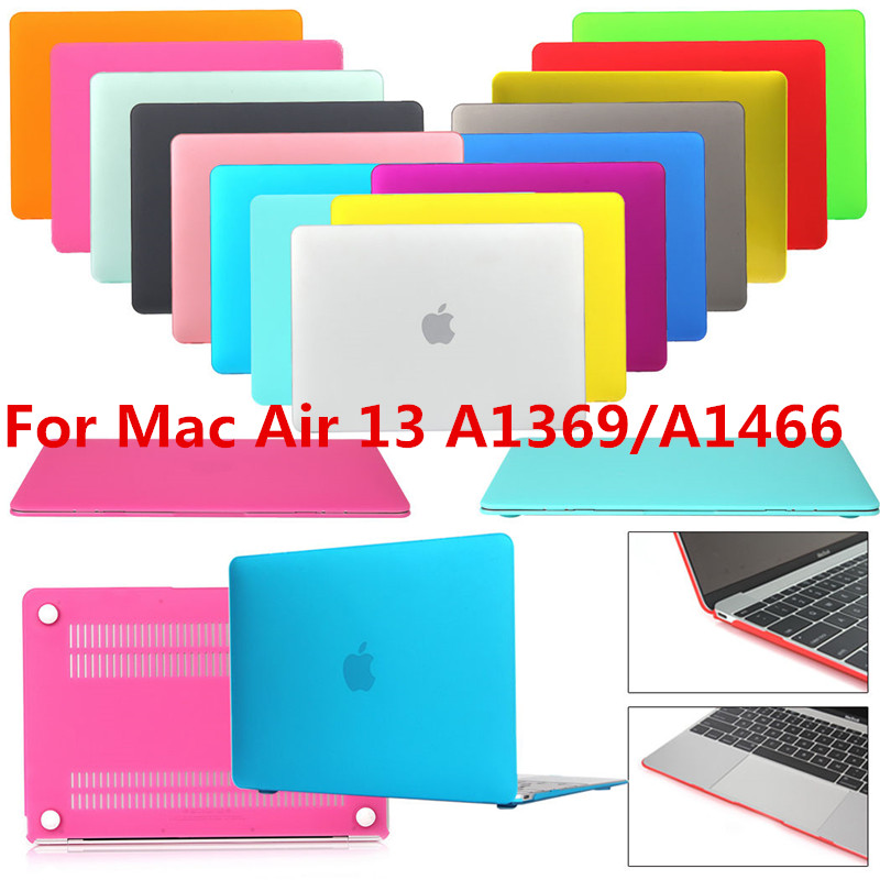 New Smart Rubber Coat Hardshell Hard Case Cover For MacBook Air 13 A1369 A1466