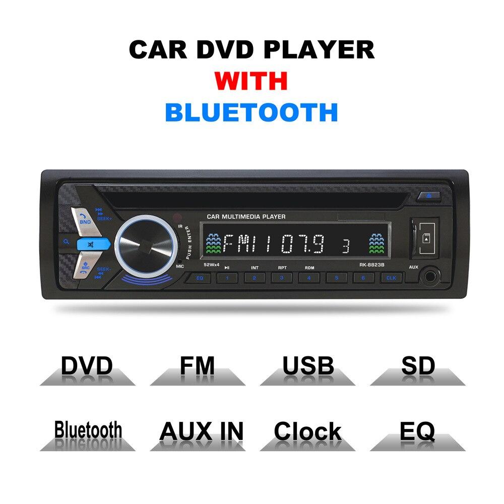 オートラジオ 12 12v 車ラジオ Bluetooth 1 din カーステレオ CD プレーヤー AUX IN MP3 FM/USB/DVD リモート制御電話カーオーディオ  グループ上の 自動車 &バイク からの 車 ラジオ の中 1
