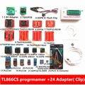 V6.5 TL866CS minipro universal programador + 24 adaptadores + IC clipe inglês/manual russo de Alta velocidade TL866 EPROM Flash programador