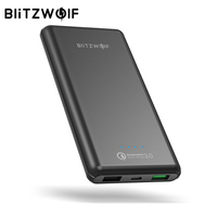 BlitzWolf 10000mAh QC3 0 Power Bank Dual USB Charger 18W Polymer Fast Charger Powerbank External Battery