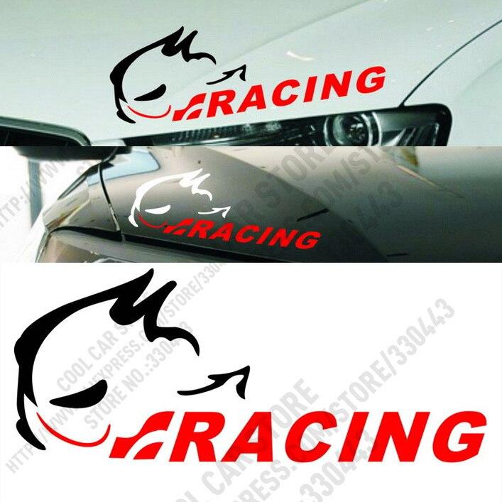 2 Colors Racing Evil rabbit light eyebrow stick For volkswagen vw polo vw golf 4