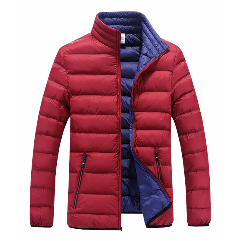 drop shipping stand collar men winter jackets and coat cotton padded outwear slim fit thick   parkas   LBZ14