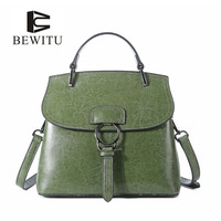 BEWITU Women S Shoulder Bag Cowskin Leather Handles For Bags S Casual Shoulder Messenger Bag Women