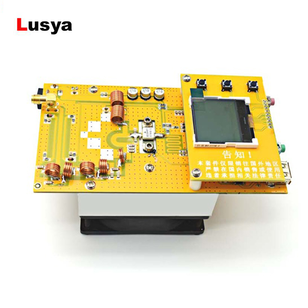 12V Digital LED Tragbare Radio FM Station Aluminium 30W PLL Stereo FM Transmitter radio 76 M 108 MHz mit kühlkörper fan D4 005-in Radio aus Verbraucherelektronik bei  Gruppe 1