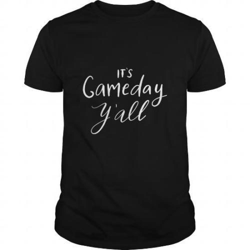T Shirt Design Online O-Neck Short Sleeve ItS Game Day YAll Graphic T Shirts For Men