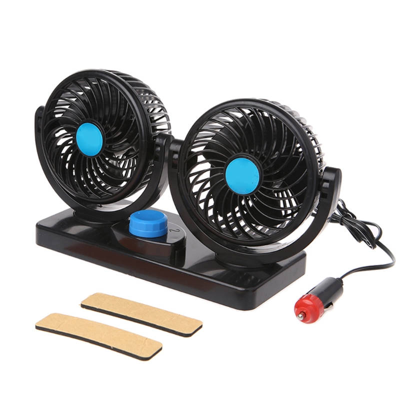 12V 24V Mini Air Conditioner For Car Electric Air Cooling Fan Rotating 2 Gears Portable Car Air Conditioner 360 Degree in Heating Fans from Automobiles Motorcycles