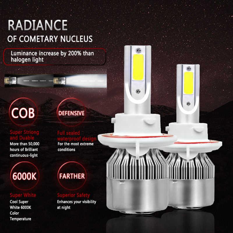 H11 C6 LED Fog Light Bulbs Kit 7600 Lumens 12V 24V Canbus For Ford