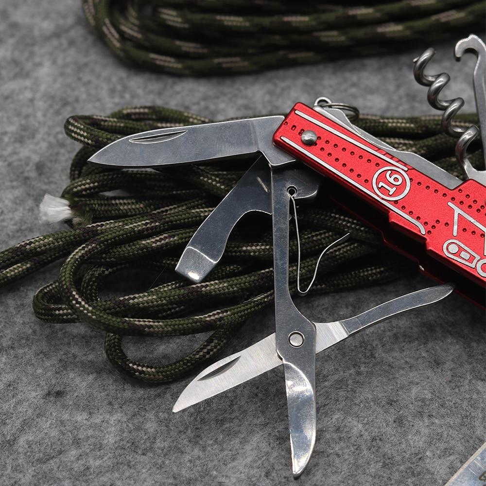Nový! Červený multifunkční skládací nůž z nerezové oceli 9 - Ruční nářadí - Fotografie 4