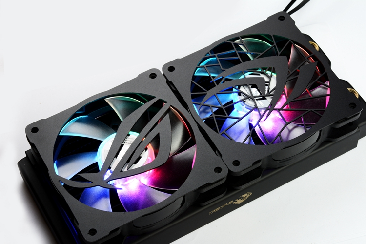 Купить с кэшбэком 3pcs/lot DIY 12cm*12cm Fan Cover Aluminum Cover use for 120mm Radiator 120mm Fan with Cool Logo for Computer Case Cooling