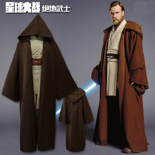 [Bargain]Star Wars Figure Jedi Knight Anakin Brown Suit Cloak+Top+Pants+Waistband Halloween cosplay costume for Adult