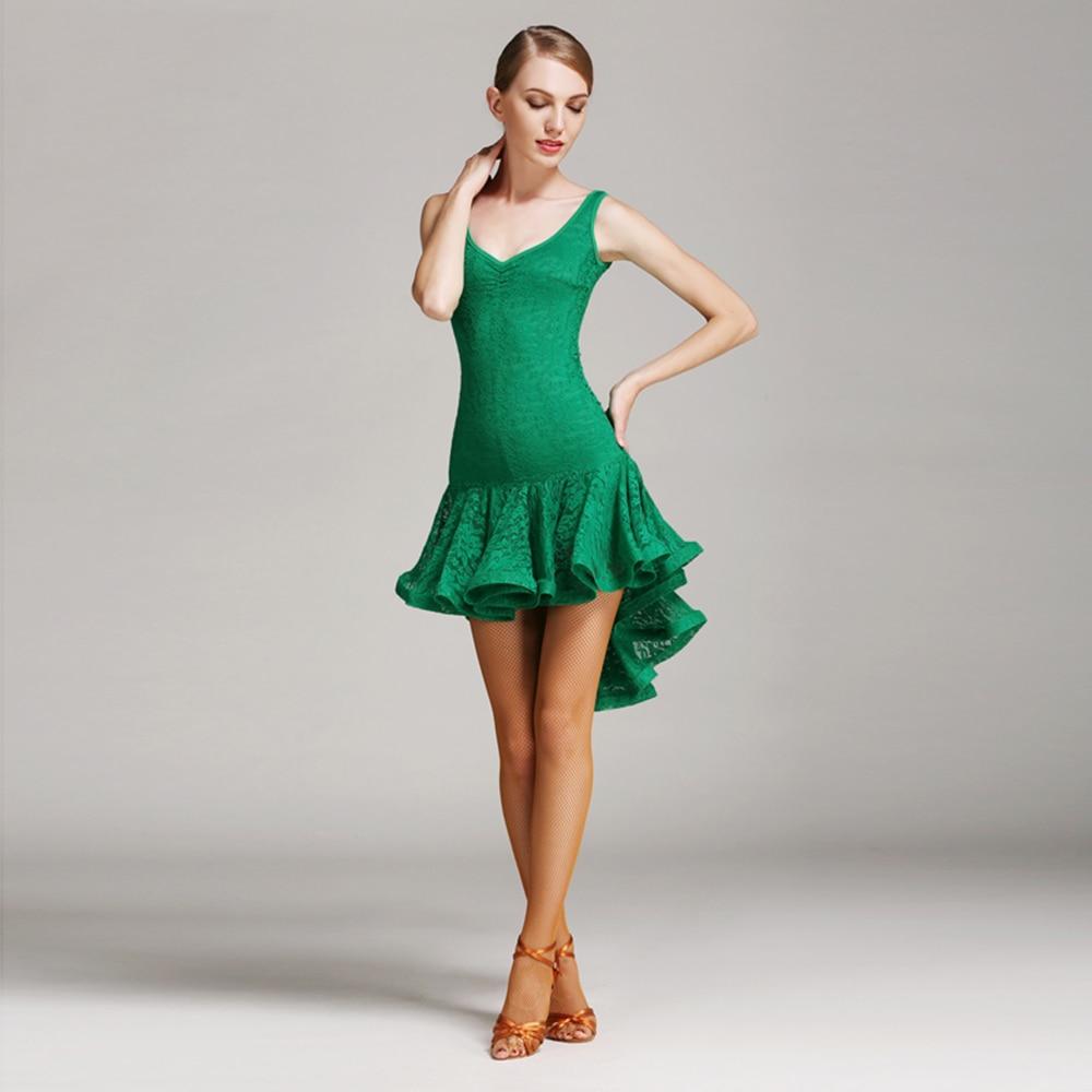 12cda1418ac84e Latin Dance Dress Kobiety Bez Rękawów Salsa Taniec Sukienka Lady Samba  Kostiumy Karnawałowe Latina Swallowtail Gatsby Klapa Sukienka DQ3042