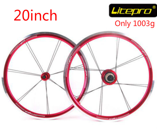 Litepro Top Level Starlight 20 inch 406 Ultralight Folding Bike Wheelset Bmx Wheels 20inch Wheelset Bmx Parts 406