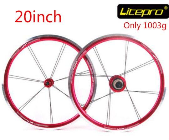 Litepro Top Level Starlight 20 inch 406 Ultralight Folding Bike Wheelset Bmx Wheels 20inch Wheelset Bmx Parts machete 20 inch 406 451 folding bike wheels sp8 74 130 bicycle wheelset