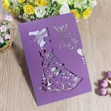 20pcs/lot Bride and Groom Laser Cut Wedding Invitations Card Personalized Engagement Anniversary Invitation Party Supplies 20pcs lot fr214