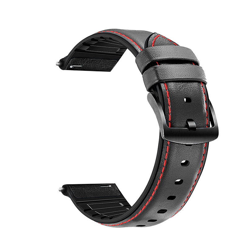 20/22mm leather bracelet for Samsung Galaxy watch 46/42mm /Samsung Gear S3 Frontier/Classic Gear S2 S4 smart watch Accessories