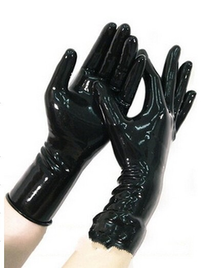 Натуральный латекс короткие однотонные цветной латекс перчатки