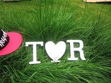 Алфавита буквы свадебная романтический дерева искусственного рождения день свадебные украшения белый