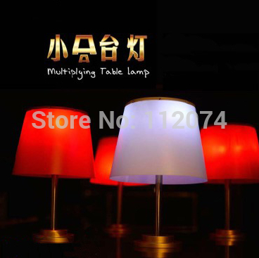 Multiplying Table Lamp (Red/White Color Available) One to Thress -  Magic Trick,Stage,Gimmick, Props,Comedy,Close Up,Accessories singular bulbs magic props white silver black