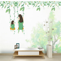 3D Custom Wallpapers Cartoon Pattern Photo Wallpapers Swing Wall Papers For Kids Wall Mural For Livingroom