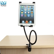 YUNAI 360 Degree Stand Holder Bracket Mount for iPad 2/3/4 Air 5-9.5 Inch Flexible Gooseneck Tablet PC Adjustable Holder Stand