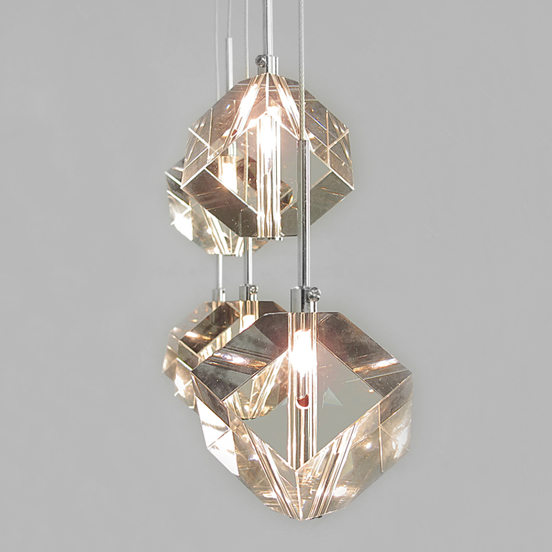 3/5/7 heads lamps Modern fashion crystal lamp creative restaurant lamp chandelier three crystal pendant lamp SJ4218 crystal pendant lamp creative 3 heads lamps original modern minimalist restaurant three personality led lighting fashion