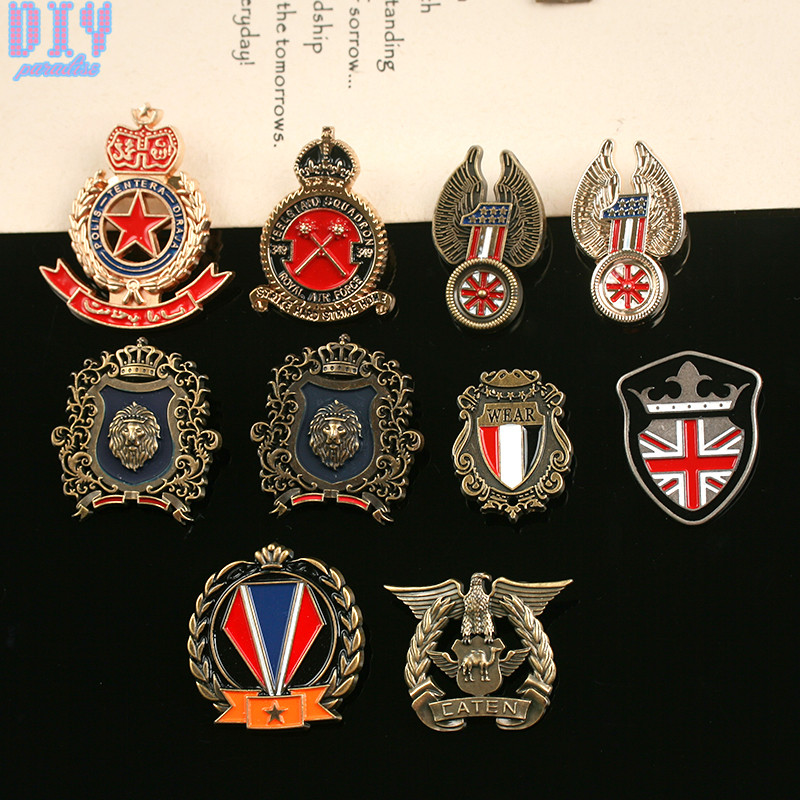 Smart England Round Five Start Military Metal Badge Retro Fabri Shoulder Board Badges Army Pin On Brooch Medal Handmade Grade Products According To Quality Badges
