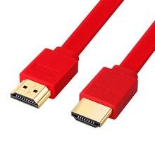 3FT 0.3 メートル 1.5 メートル 2 メートル 3 メートル 5 メートル 7.5 メートル 10 メートル 15 メートルの金メッキプラグオス オス HDMI ケーブル 1.4 バージョンフラットラインショート 1080 1080p 3D ため PS3HDTV