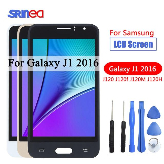 J120F LCD สำหรับ Samsung Galaxy J1 2016 LCD J120 J120F J120M J120H จอแสดงผล Touch Screen Digitizer จอแสดงผลความสว่างเครื่องมือ