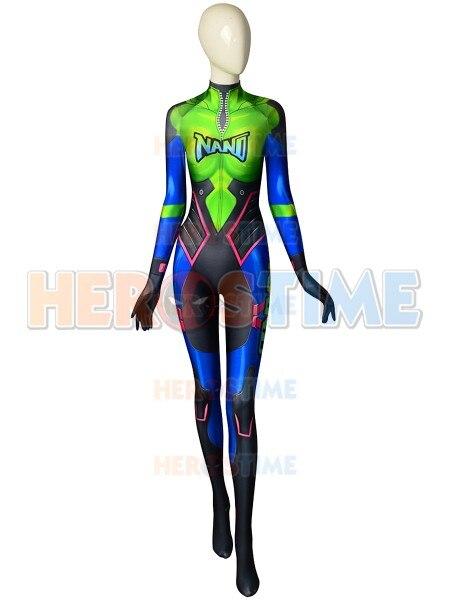 3D Print Cola D.Va Skin Cosplay Costume Custom Made Game Lycra DVA Nano Zentai Suit Halloween Party Bodysuit