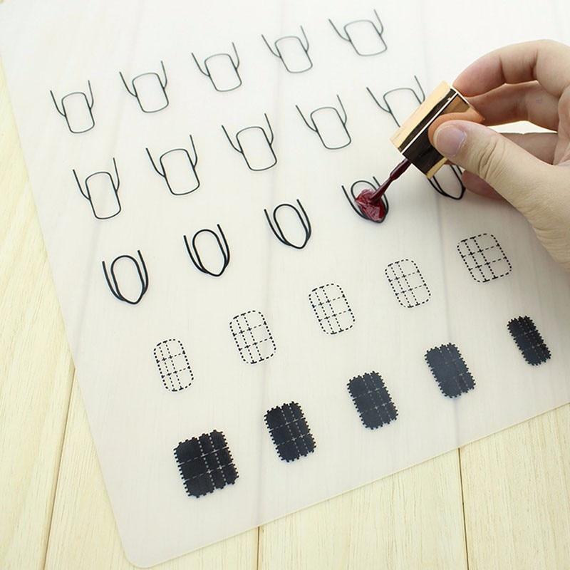 1Pc Silicone Nail Art Stamp Mat Decal Maker DIY Reverse Stamping ...