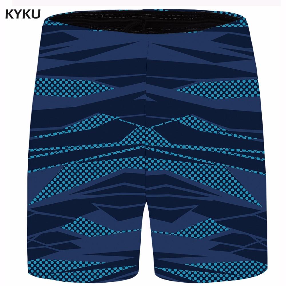 KYKU Pattern Short Men Space Cargo Shorts Big Size 3d Printed Casual Shorts Blue Beach Mens Short 2018 New Summer High Quality