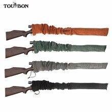 Tourbon Hunting Tactical Silicone Treated Gun Sock Rifle Shotgun Cover  Knit Firearm Case Shooting Accessories