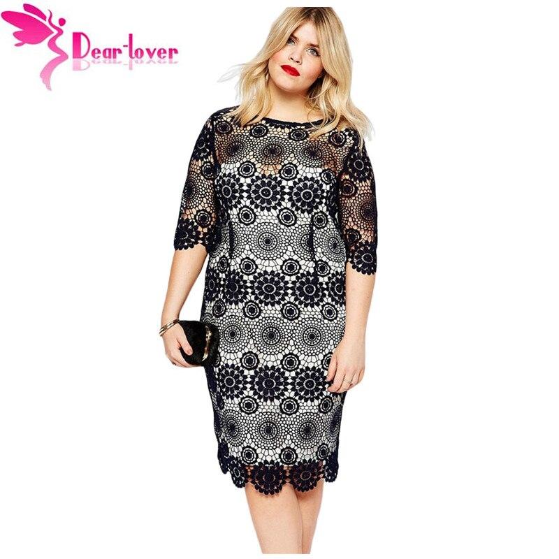 Dear Lover Elegant Loose Big Women Clothing Plus Size Half Sleeve
