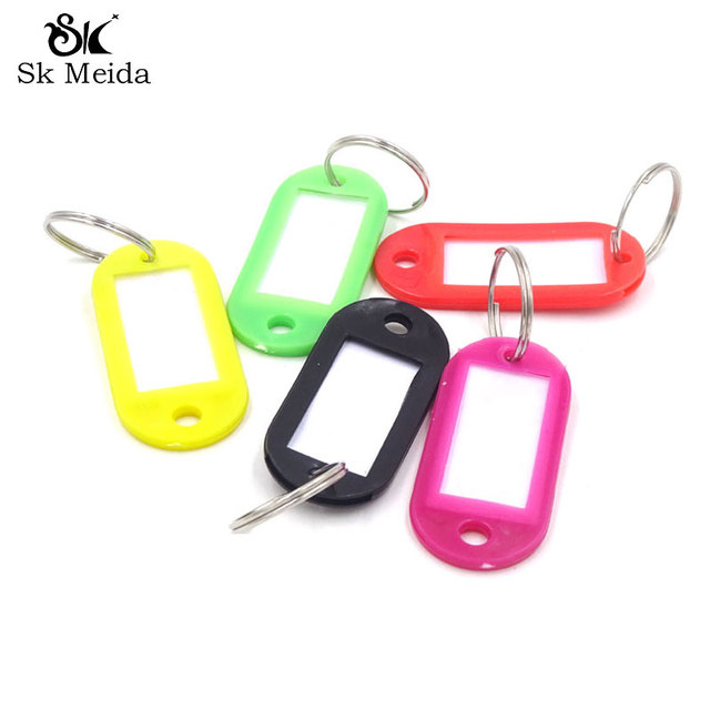 50pcs plastic keychain blanks key ring diy name tags for baggage 50pcs plastic keychain blanks key ring diy name tags for baggage paper insert luggage tags mix reheart