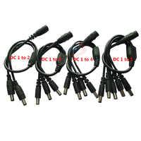 1 pièces DC 2.1*5.5mm 1 femelle à 2 3 4 5 mâle câble de prise de répartiteur d'alimentation cc pour CCTV accessoires de caméra de sécurité adaptateur d'alimentation