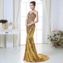 Women Sequins Mermaid Dresses Backless Pageant Party Lace E49 inotec стойка для гантелей e49