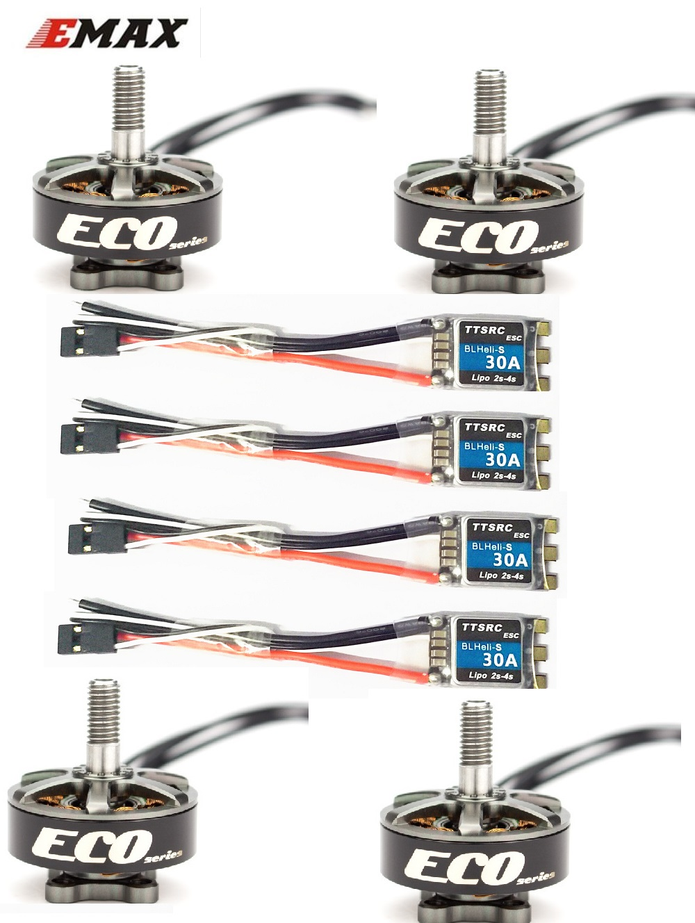 Emax ECO Series 2306 1700KV 3~<font><b>6s</b></font> /2400KV 2~4s Durable <font><b>Motor</b></font> for DIY Racing Drone RC Helicopter image