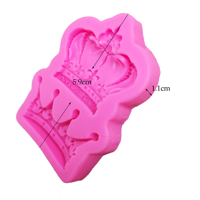 M0761 Royal crown silicone fandont mold Silica gel moulds crowns Chocolate molds candy mould wedding cake decorating tools