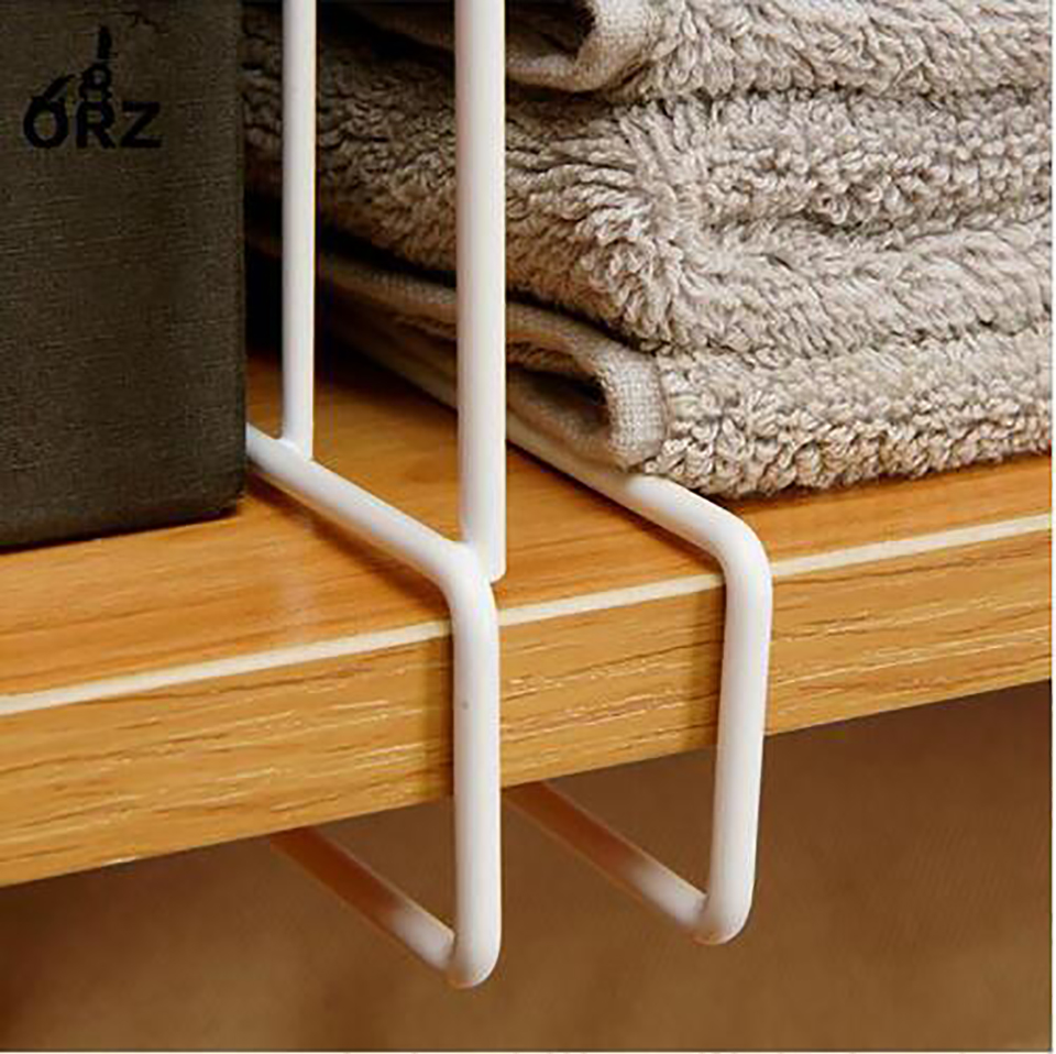 In Stock 3PCS Closet Shelf Dividers Space Saving Shelves Wire Design White Wardrobe Chest Drawer Organizer Clothes Storage Rack in Storage Holders Racks from Home Garden