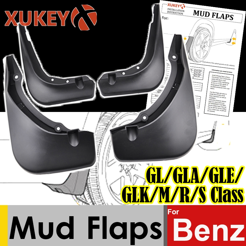 Xukey Mud Flaps For Mercedes Benz GL Class X164 GLA X156 GLE W166 GLK X204 M