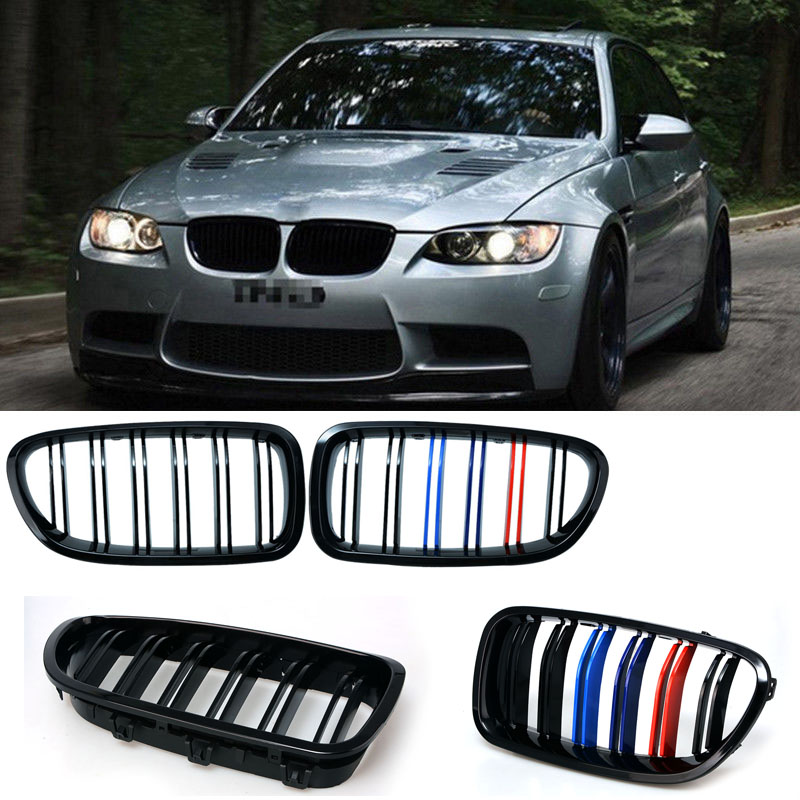 1pair Grille For BMW 5 series F10 F18 10 15 gloss black Car Front Center Wide