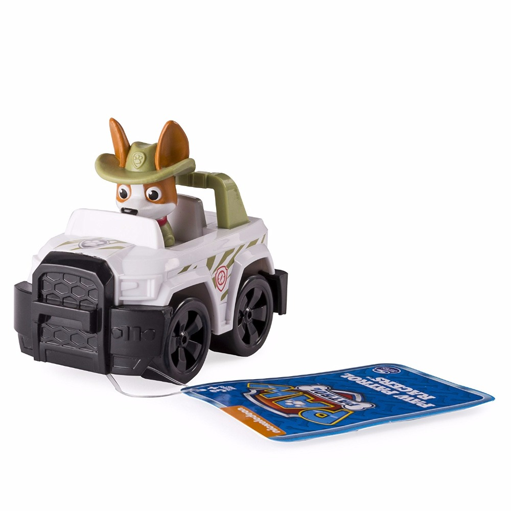 Genuine Paw Patrol Rescue Racers, Tracker Jungle Pup Puppy la Patrulla Canina Toys Kids Patrol Dog Puppy Patrol Juguetes toy Щенячий патруль