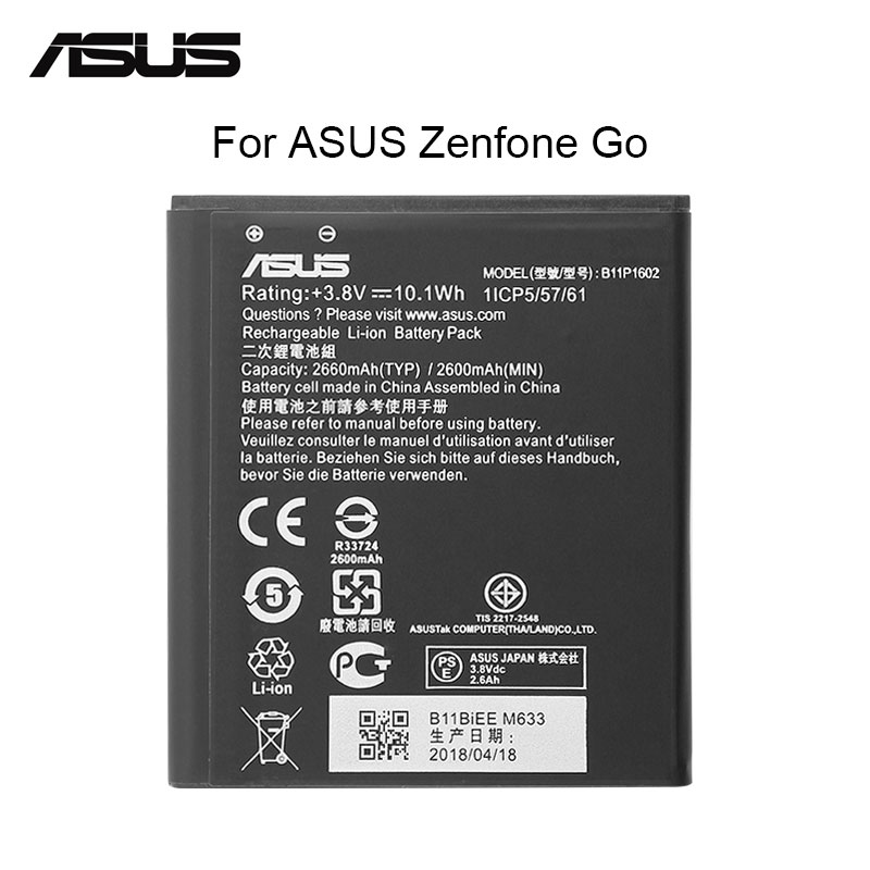 "ASUS Original Replacement Phone Battery B11P1602 2400mah For Asus Zenfone Go 5"" ZB500KL X00AD X00ADC X00ADA Free Tools"