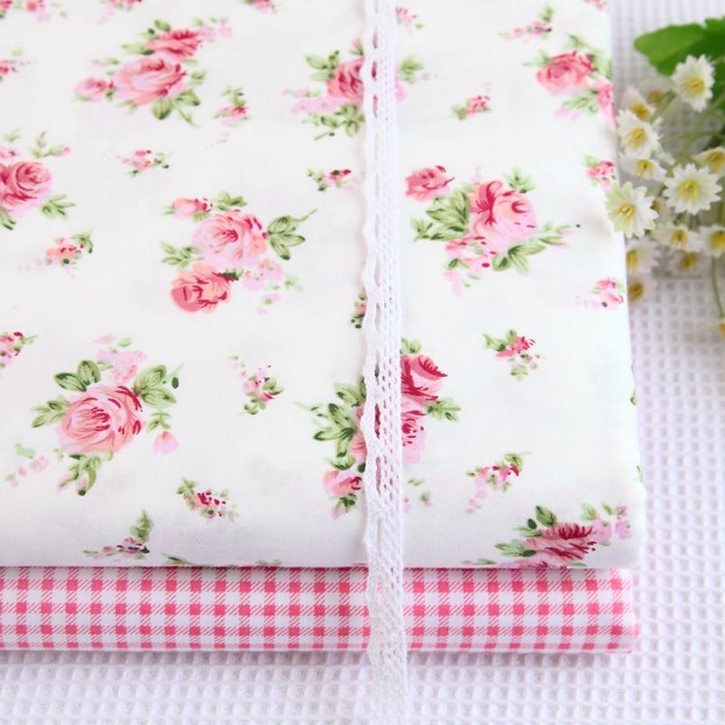 40 cm * 50 cm rosa rosa suministros de costura 100% algodón ropa de cama de tela